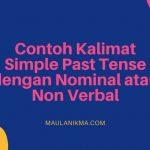 Contoh Kalimat Simple Past Tense dengan Nominal atau Non Verbal