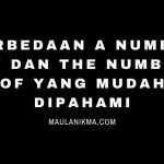 Perbedaan A Number Of dan The Number Of yang Mudah Dipahami