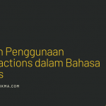 Aturan Penggunaan Contractions dalam Bahasa Inggris
