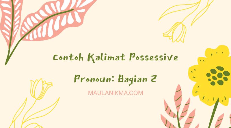 Contoh Kalimat Possessive Pronoun: Bagian 2