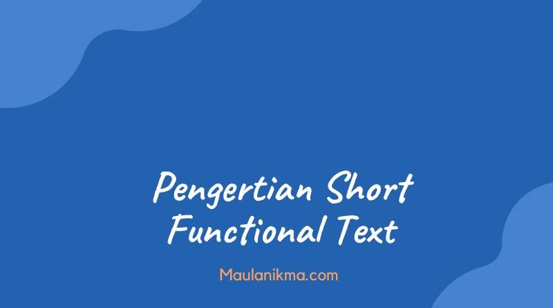 Pengertian Short Functional Text dan 11 Contoh-Contohnya